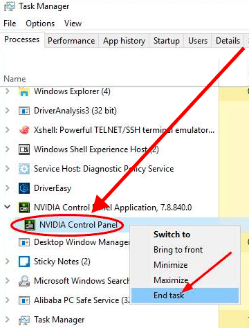 NVIDIA Control Panel Not Working on Windows 10 - Techniedges