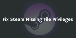 Fix Steam Missing File Privileges