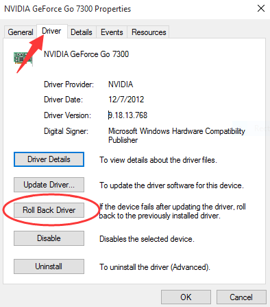 How to Rollback Nvidia Drivers in Windows 10