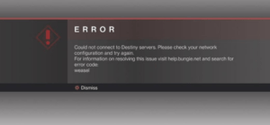Destiny 2 Servers Not Available