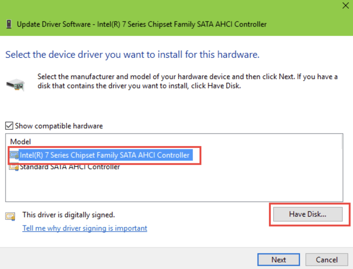 Intel hard drive drivers