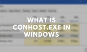 conhost.exe Windows