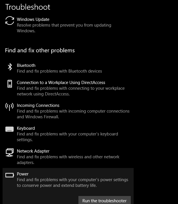 Windos Update Troubleshoot