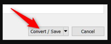 Choose Convert/Save