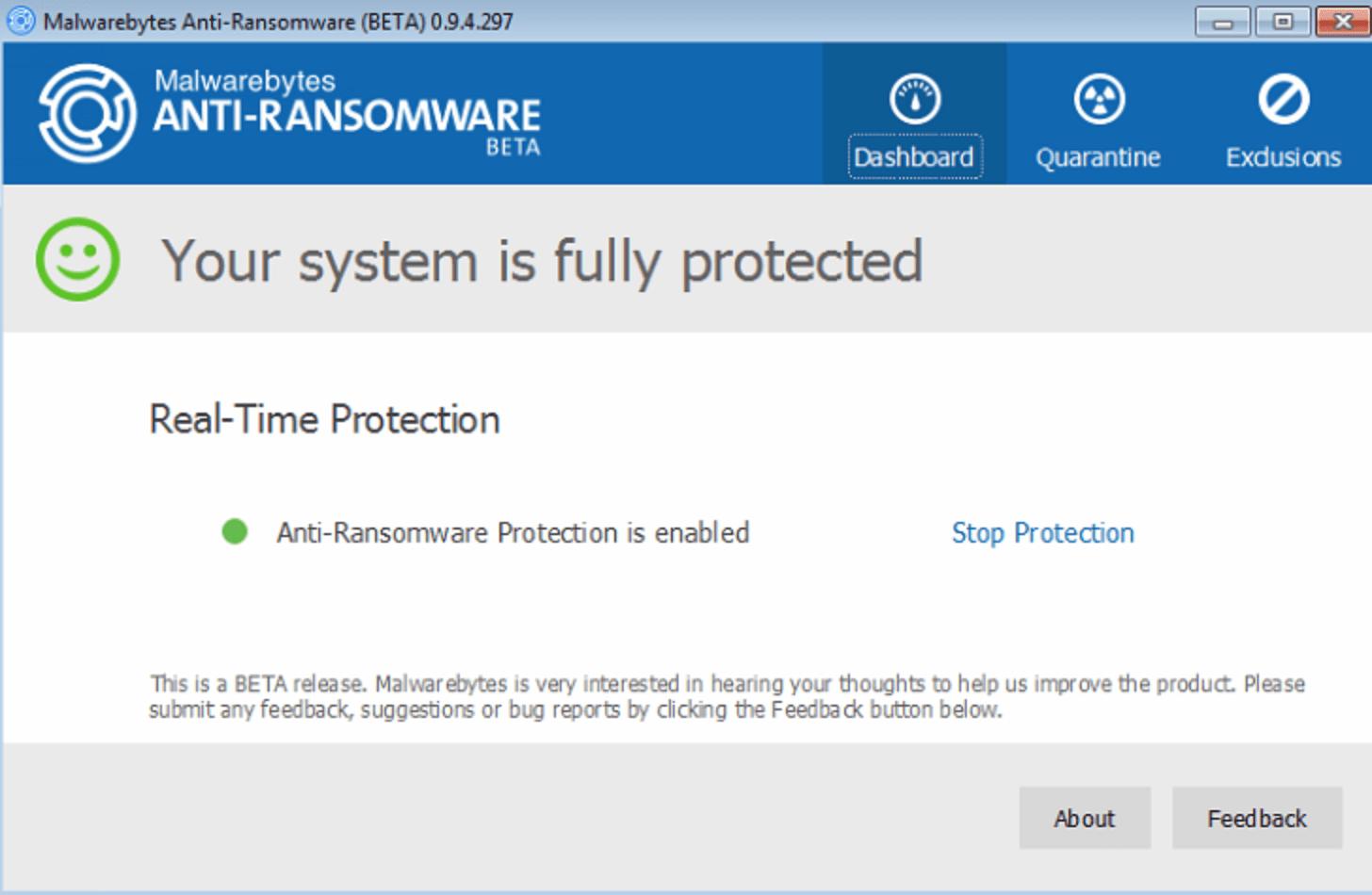 Malwarebytes Realtime Protection