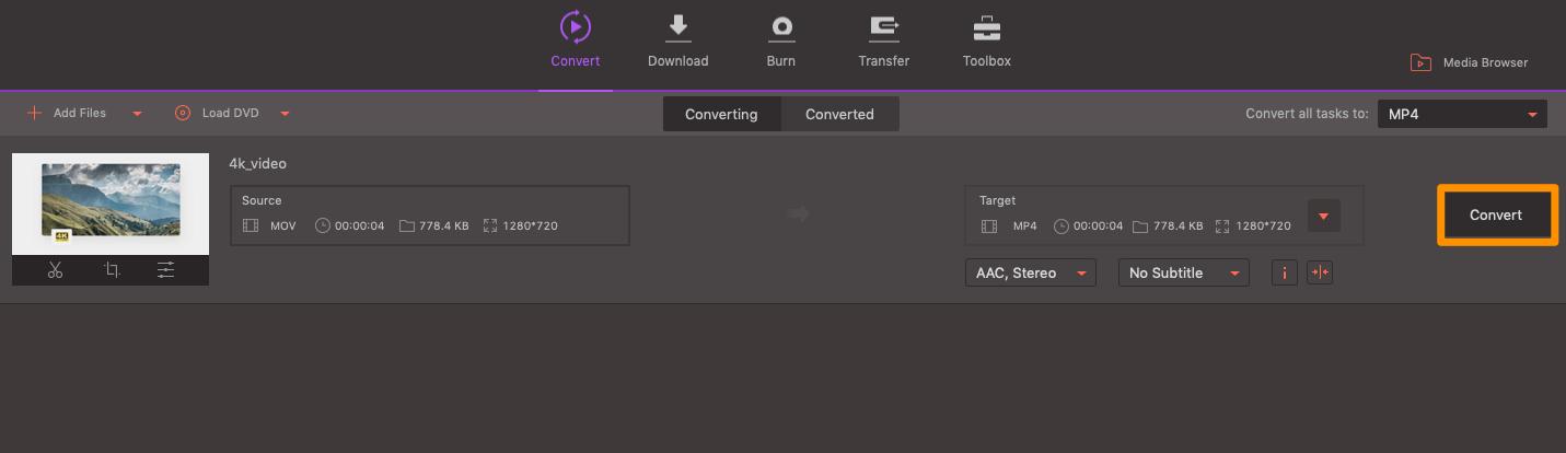Wondershare Conversion Tool