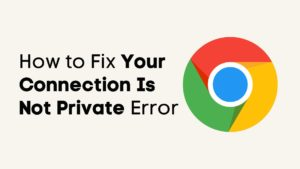 Your Connection Is Not Private Error