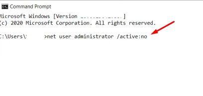 net user administrator no