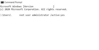net user administrator yes